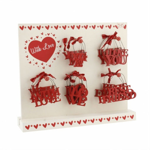 With Love Cut Out Sentiments On Stand