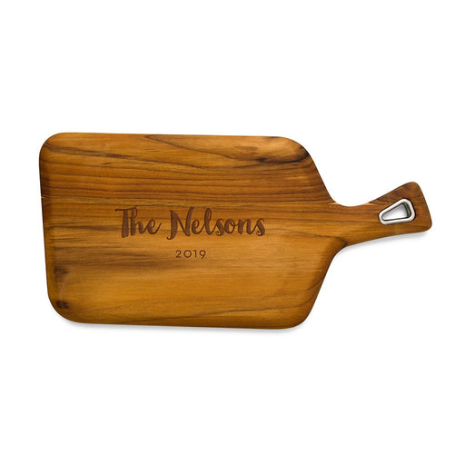 Personalised Natural Teak Wood Cutting And Serving Board