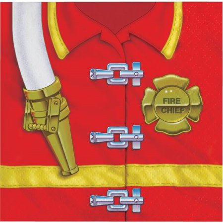 Firefighter Beverage Napkins