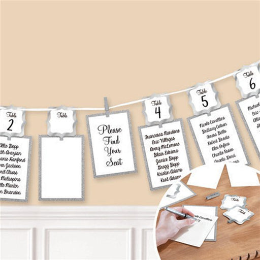 Seating Chart Garland - Silver