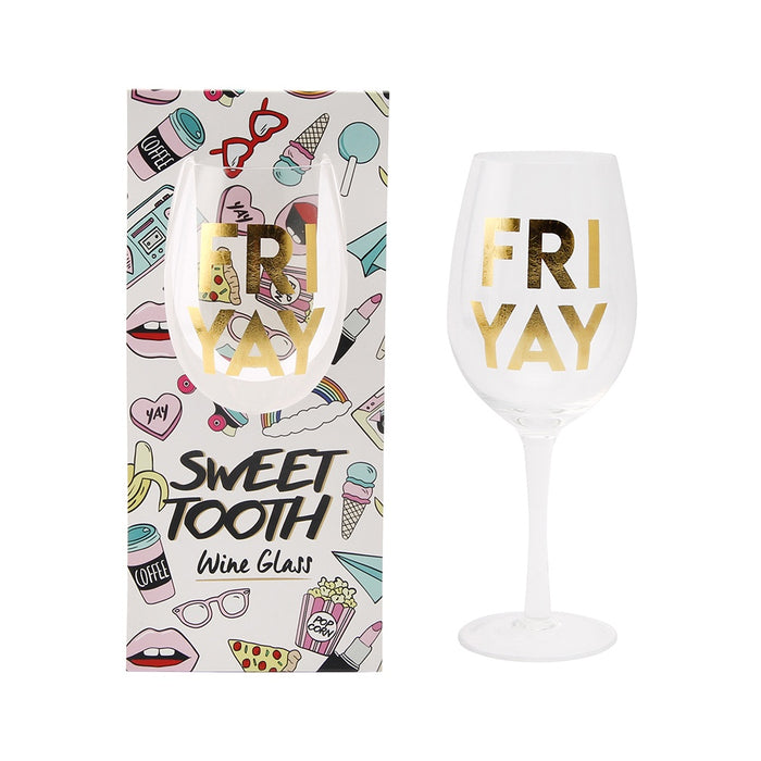 Wine Glass - Sweet Tooth 'Fri Yay'