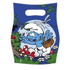 The Smurfs Party Plastic Party Bags