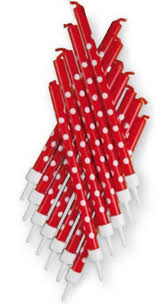 Red/White Polka Dot Candles