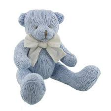Petit Cheri' Baby Collection Sitting Teddy - Blue
