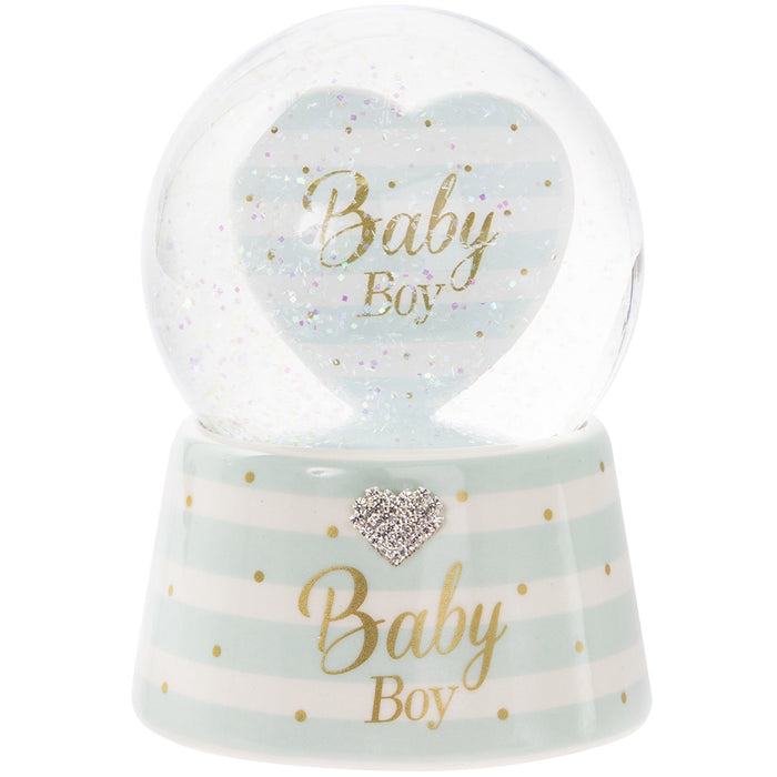Snow Globe Musical - Baby Boy Mad Dots