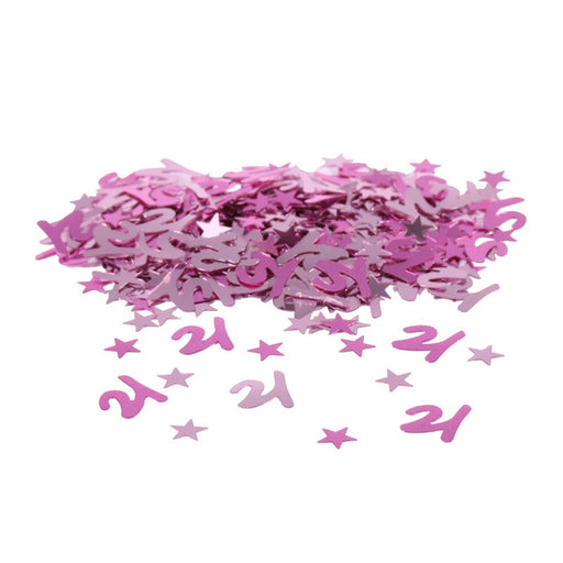 Table Confetti - 21st Birthday - Pink 14g
