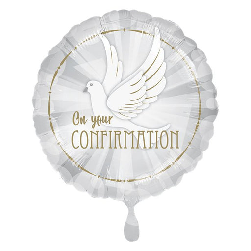 Balloon Foil  Round Shape - Confirmation Dove - 18''