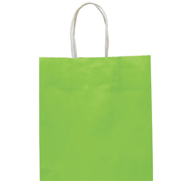 Party Bag with Handles - Lime Green - Medium 25cm