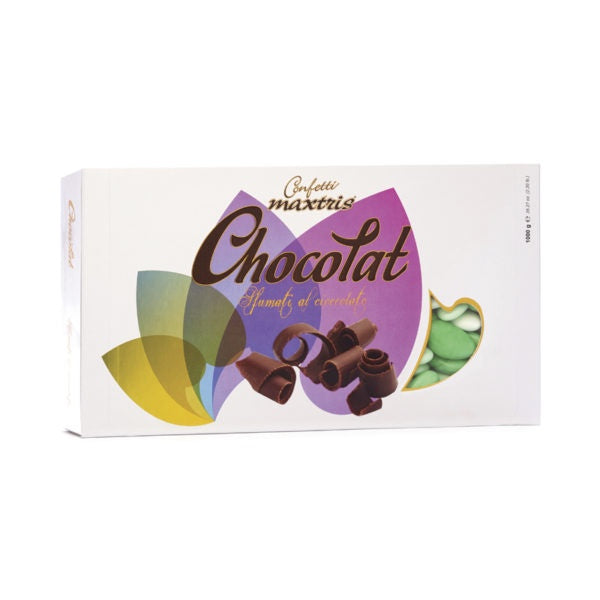 Dark Chocolate Dragees - Green Shades - 1kg