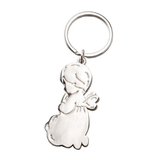 Metal Guardian Angel Keychain