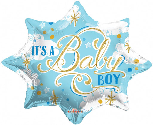 Balloon Foil Star Shape - It's a Boy Theme - 18''