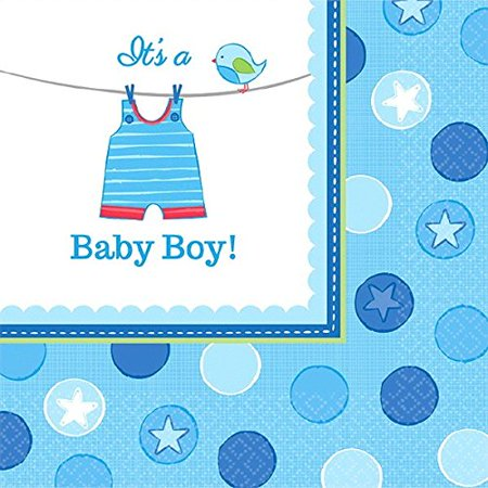Boy's Shower With Love Luncheon Napkins