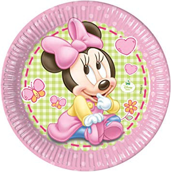 Party Plates - Minnie First Birthday - 8pk