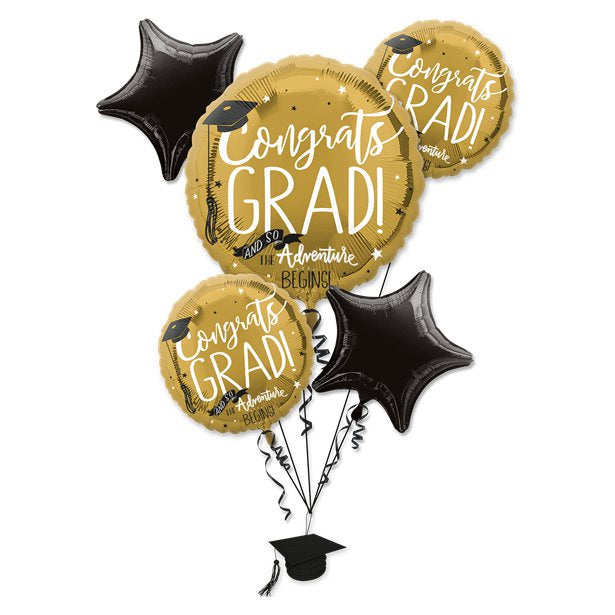 Balloon Foil Bouquet - Graduation - Assorted