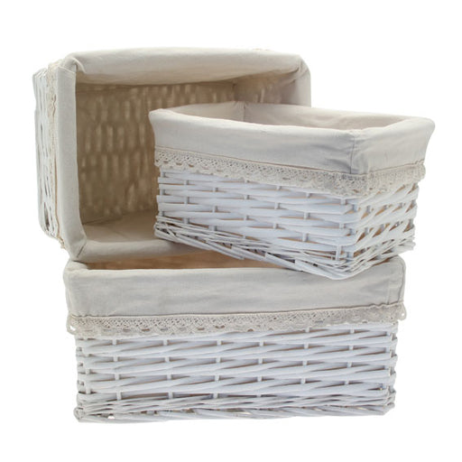 Set of 3 Rectangle Victoria Basket - 1 large 1 medium and 1 small
