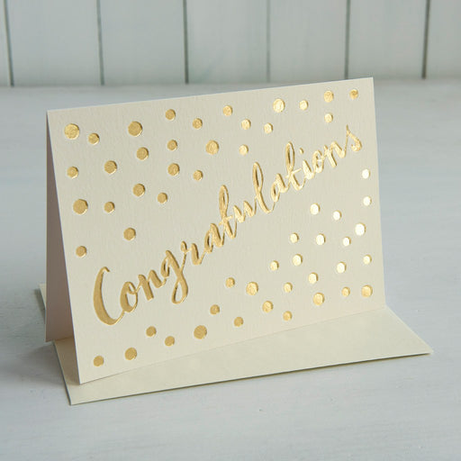 Congratulations - Card - Gold