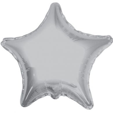Balloon Foil Star Shape - Silver 18''