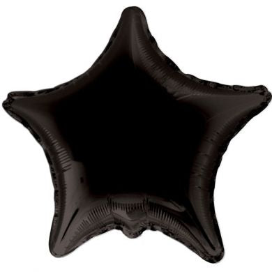 Balloon Foil Star Shape - Black 18''