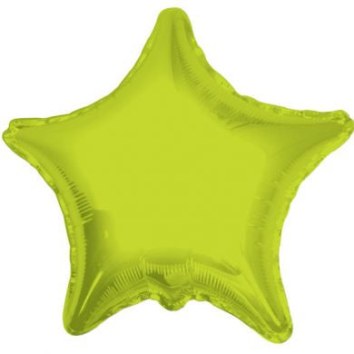 Balloon Foil Star Shape - Lime Green 18''