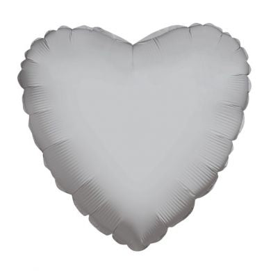 Balloon Foil Heart Shape - Silver 18''