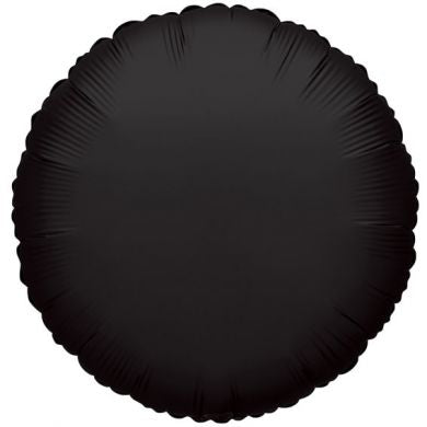 Balloon Foil Circle Shape - Black 18''