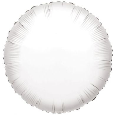 Balloon Foil Circle Shape - White 18''