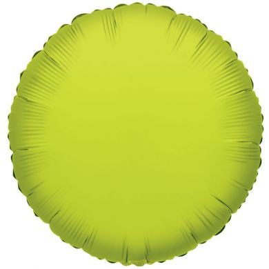 Balloon Foil Circle Shape - Lime Green 18''