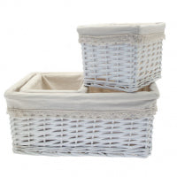 Set of 3 Rectangle Victoria Basket - 1 Large and 2 Small