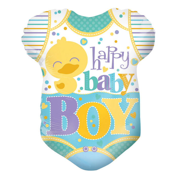 Balloon Foil Clothes Shape - Happy Baby Boy 18''