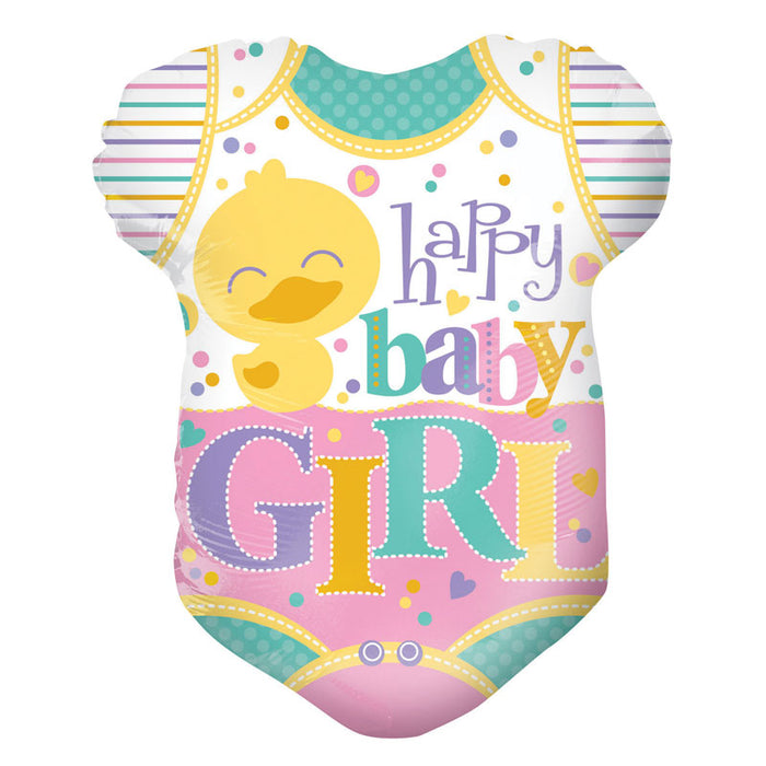 Balloon Foil Clothes Shape - Happy Baby Girl 18''