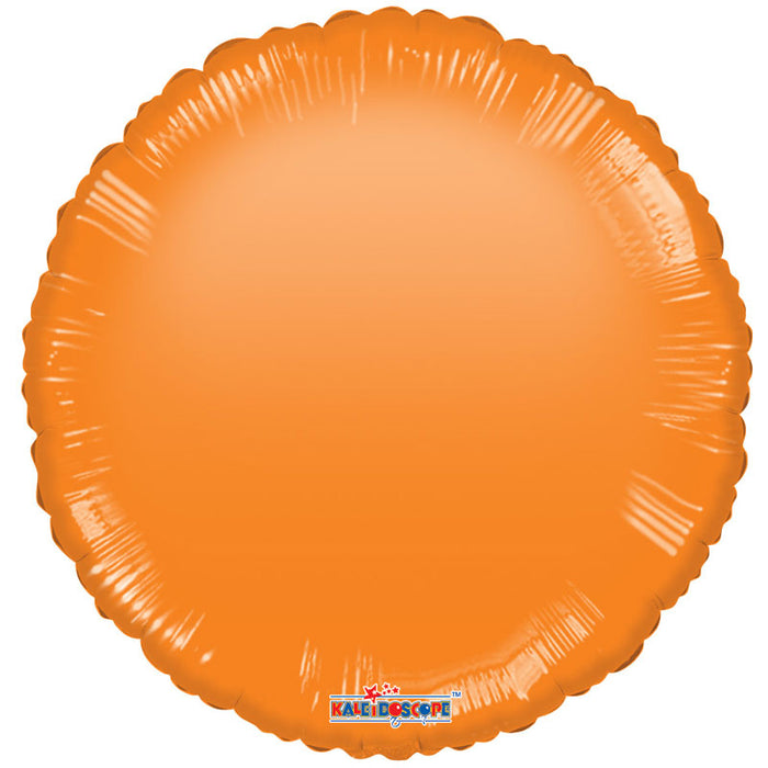 Balloon Foil Circle Shape - Gellibean Orange 18''