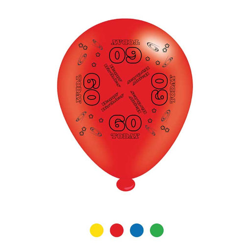 Age 60 Unisex Birthday Latex Balloon