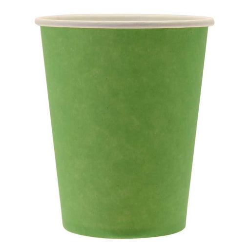 Paper Cups - Lime Green - 265ml (8pk)