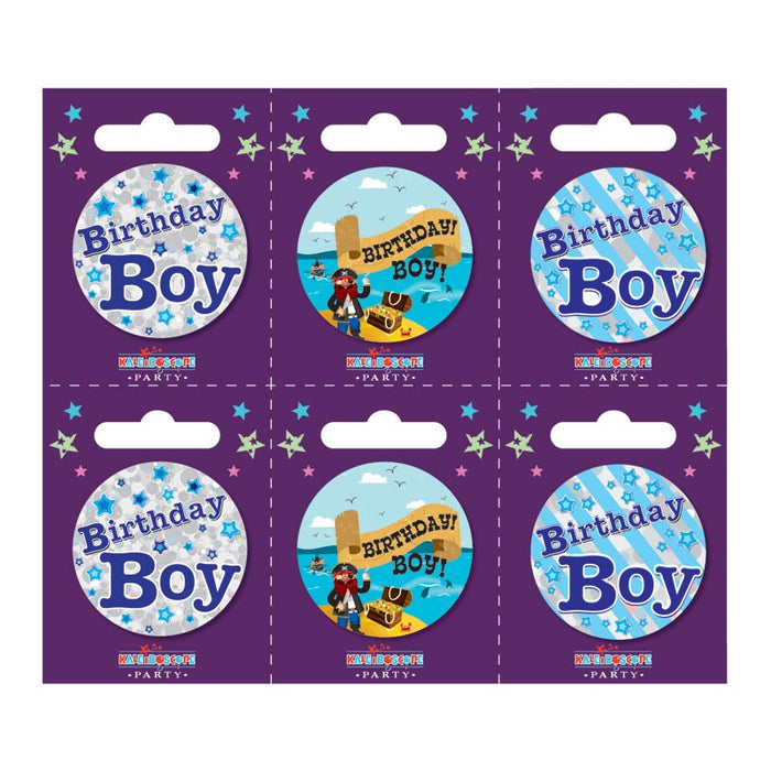 Birthday Boy Small Badge with Stars