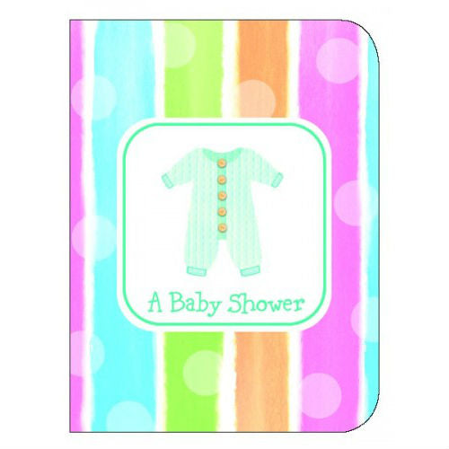 Baby Shower Invitations - Baby Clothing - 8pk