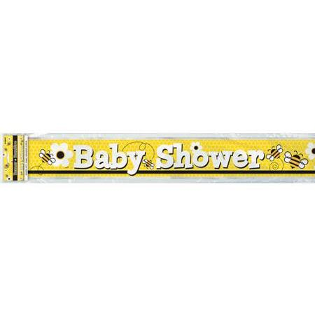 Busy Bees Baby Shower Foil Banner - 3.7M