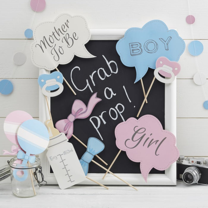 Baby Photo Booth Props-Little Lady Or Mini Mister