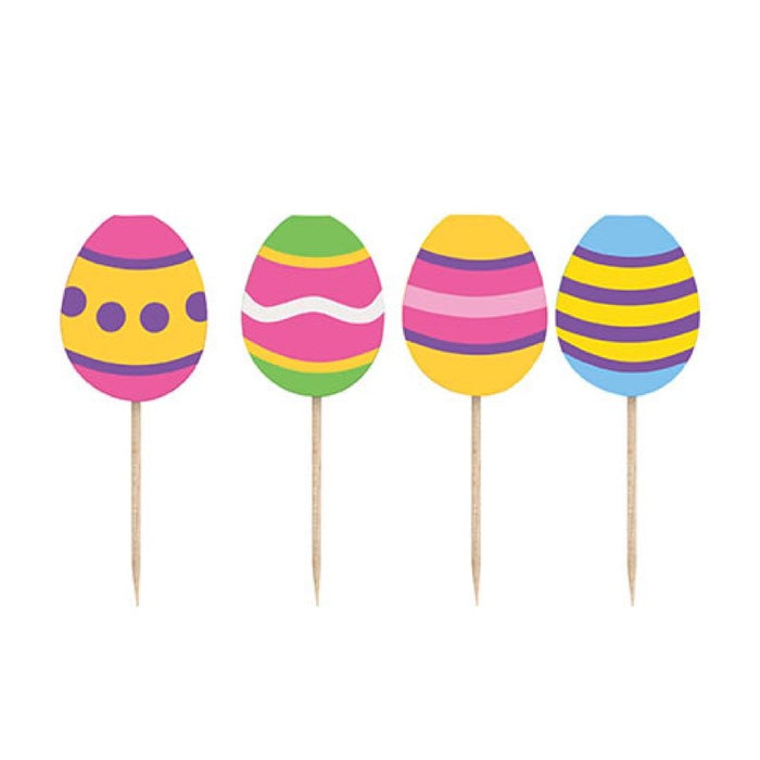 Bright Easter Party Supplies Picks - 22cm