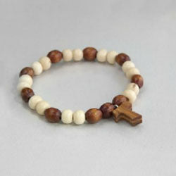 Rb Bracelet Elastic Wood White / Dark (No Box)