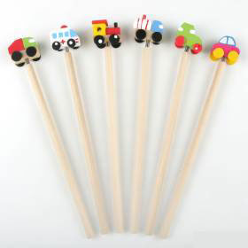 Wooden Pencil 6 Motor Vehicles 21Cm.