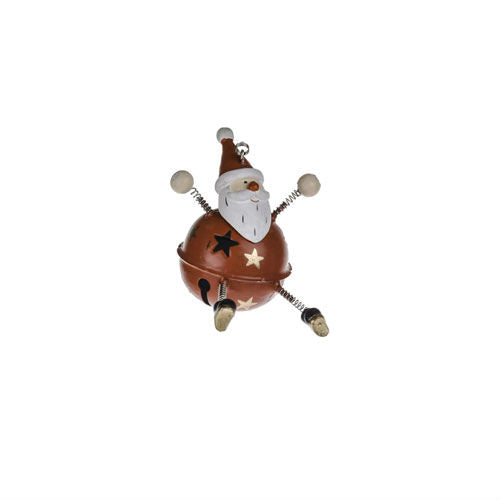 Hanging Bauble Santa Decoration