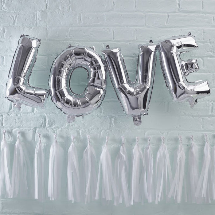 Pick and Mix - Bunting - Balloon Love Silver