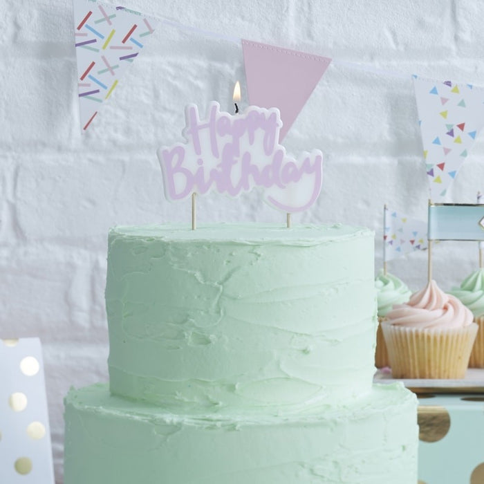 Pick and Mix - Candles - Happy Birthday - Lilac