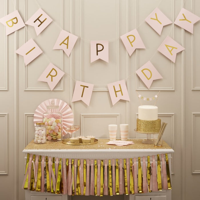 Pastel Perfection - Happy Birthday Bunting