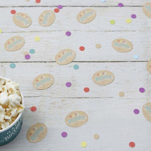 Birthday Kraft Table Confetti