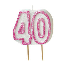 40th Birthday Candle - Pink