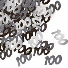 Dazzling Effects 100th Birthday Table Confetti - Black