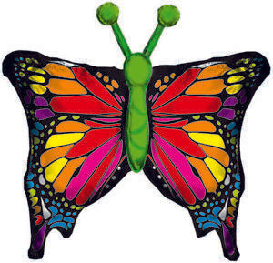 Colourful Monarch Butterfly Sparkle Foil Balloon