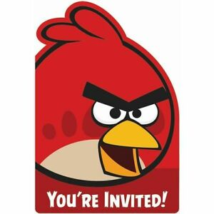 Angry Birds Invites - Party Invitation Cards
