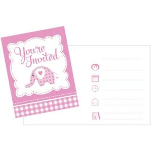 Sweet Baby Elephant - Pink Invitations